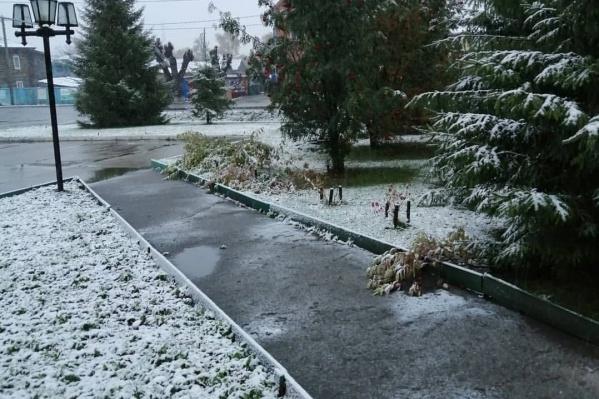 В северных районах снег тает не так быстро