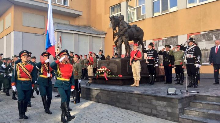 В Самаре появился памятник черным гусарам