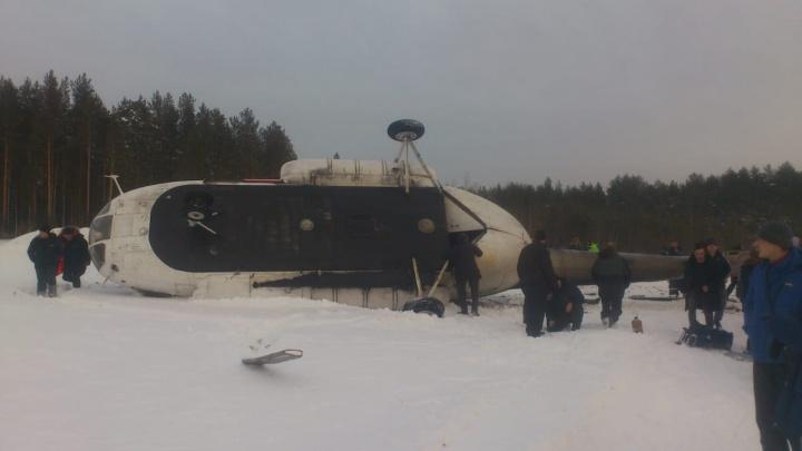 Пятеро сибиряков пострадали при крушении вертолёта в Томской области