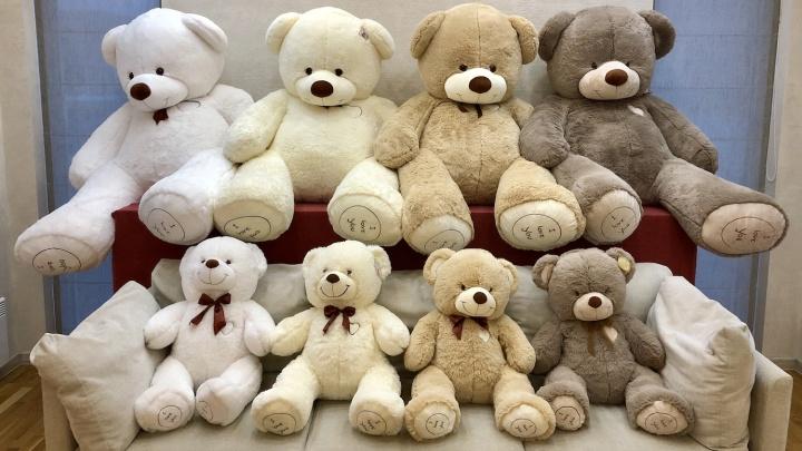 Гигантские плюшевые медведи исполняют мечты