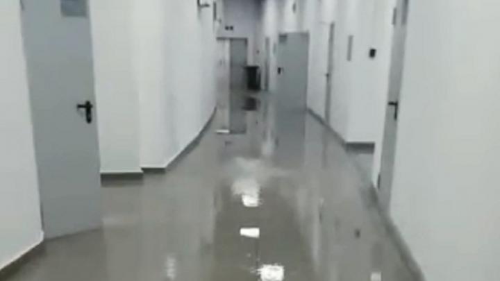 «Волгоград Арена» протекла от дождя