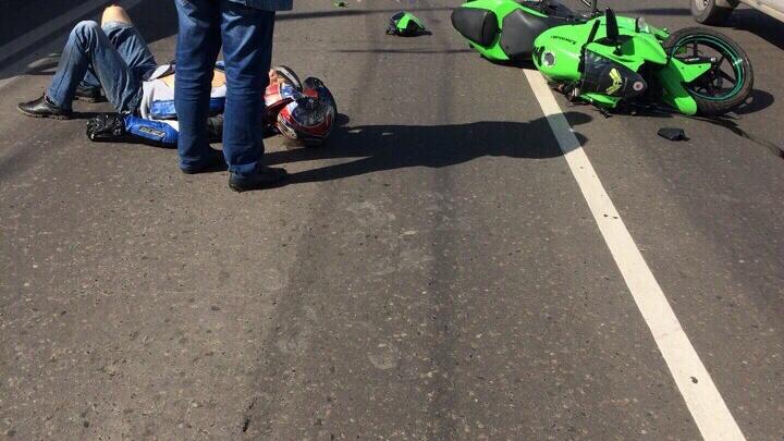 На Маерчака мотоциклиста после аварии увезли в больницу