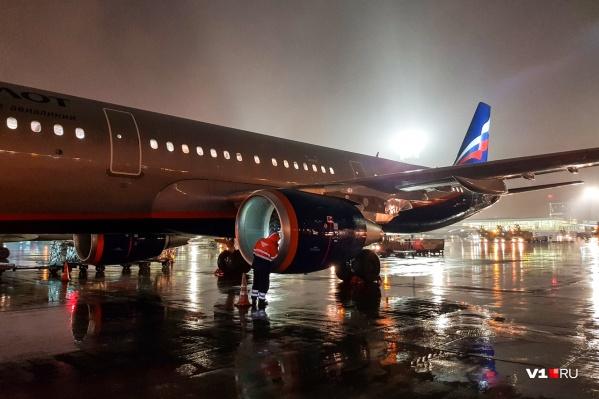 Рейс «Аэрофлота» SU 1183 из Волгограда приземлился в Ульяновске