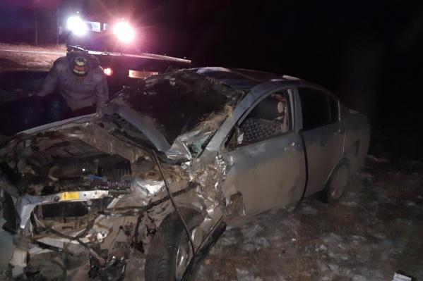 Перед у авто виновника аварии оказался всмятку