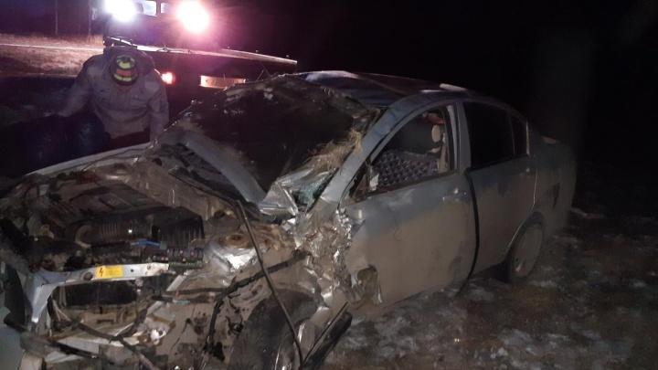 В Самарской области пьяный водитель устроил лобовое ДТП с грузовиком