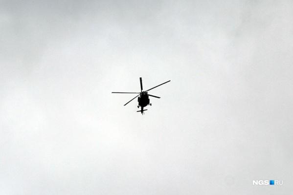 Вертолёт Ми-8 сгорел во время жёсткой посадки