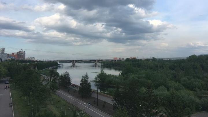 Дождь с грозами идет в Красноярск