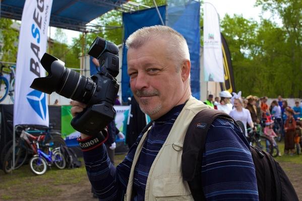Сергей Глорио на открытии велосезона в 2017 году