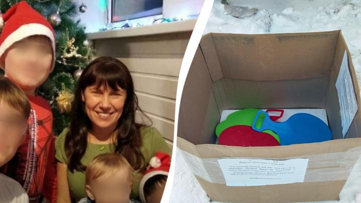 Жительница Башкирии рассказала, зачем купила детям во дворе санки-ледянки
