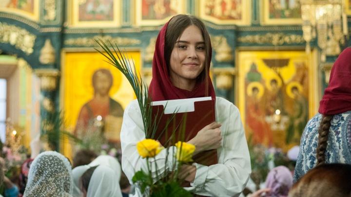 Вербное воскресенье в Екатеринбурге: любуемся на самый первый весенний «цветок» и на листья пальмы