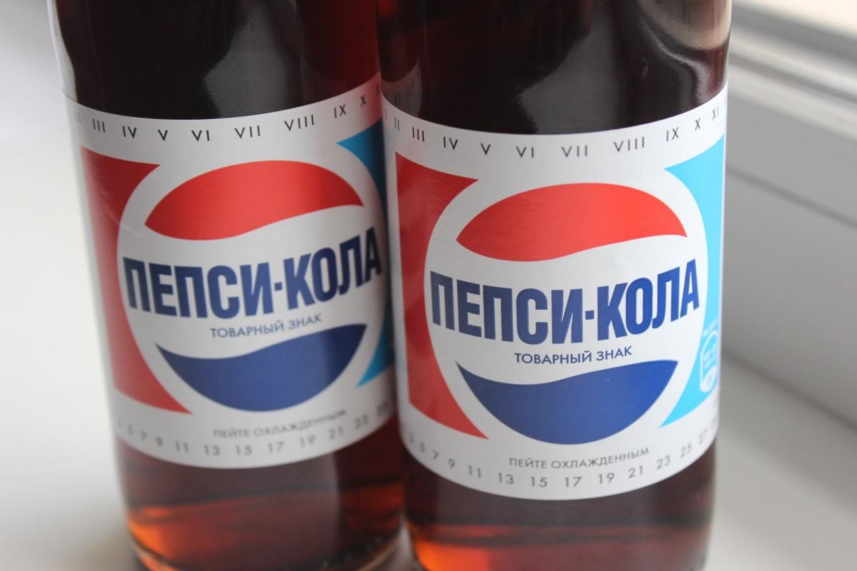 Ретро-бутылки с пепси-колой очень похожи на старые, но напиток в них обойдётся вдвое дороже. Фото Стаса Соколова