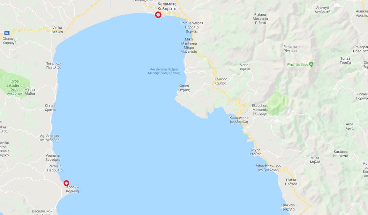 Игорь проплыл по морю изКорони в Каламату