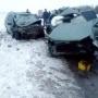 Первые кадры с места ДТП: в Башкирии столкнулись«Богдан-2111» и«Лада-Калина»: погибли 6 человек