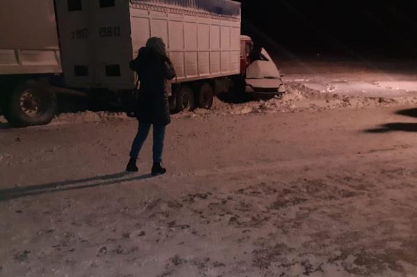 Юг Челябинской области сегодня накрыло снегопадами и метелями, из-за этого видимость на трассах упала практически до нескольких метров