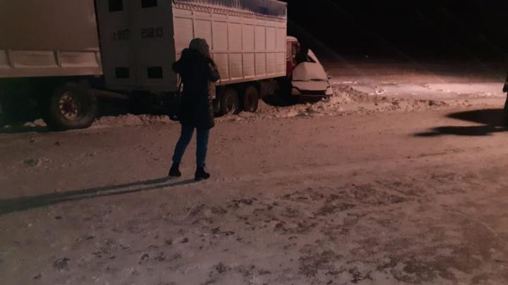 В аварии с грузовиком на трассе в Челябинской области погибли пять человек