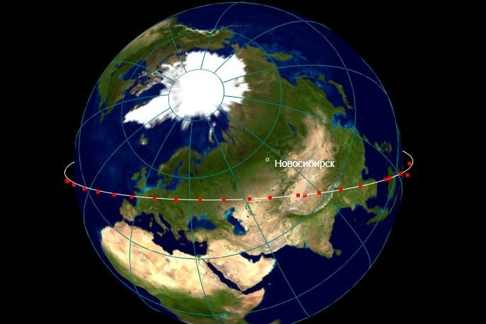 Следить за перемещениями спутников можно в режиме реального времени
