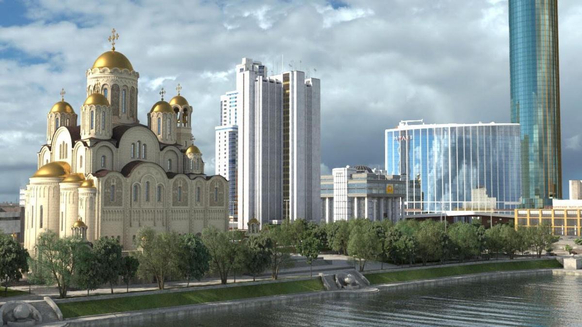 Козицын смело и быстро застраивает центр Екатеринбурга: башни «Исеть» и «Демидов», «Хаятт», а теперь и 75-метровый храм святой Екатерины на месте сквера у Драмтеатра