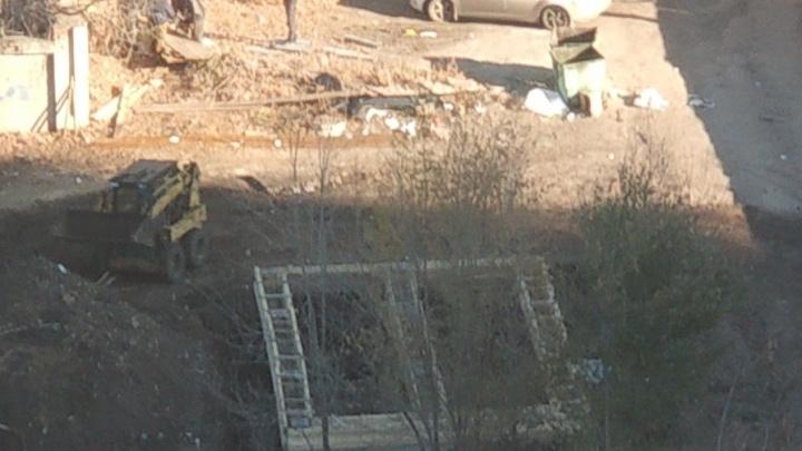 Жители Самары нашли незаконную стройку около Фабрики-кухни