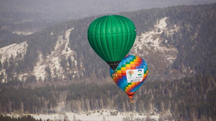 Блогеры и фотографы осуществили рекордный перелет над горной Башкирией