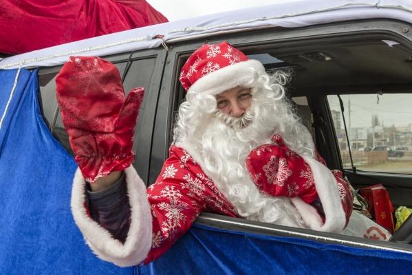 Дед Мороз уже второй год дарит волгоградцам новогоднее настроение