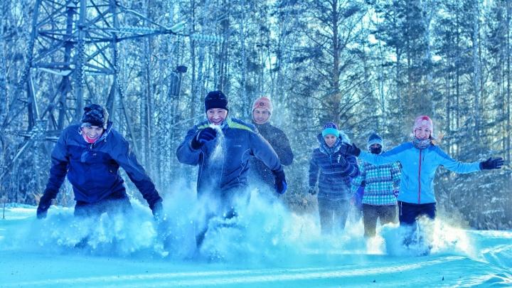 Новосибирцы пробежались по сугробам Академгородка в 32-градусный мороз