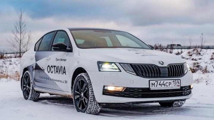 Идеальный автомобиль для поездок зимой: как проявляет себя ŠKODA OCTAVIA на заснеженных дорогах