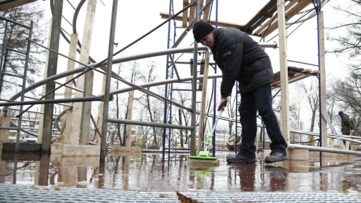 В челябинском парке имени Терешковой смонтировали «пешеходный» фонтан