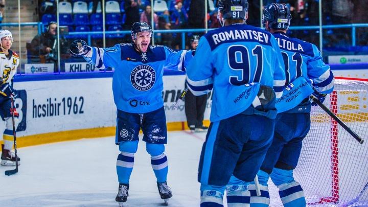 Хоккейная«Сибирь» проиграла последнюю игру сезона