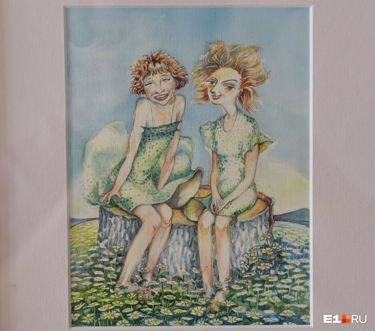 На этом рисунке — Тамара Зимина и её подруга