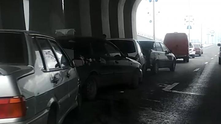 В тоннеле на Московском шоссе произошло массовое ДТП