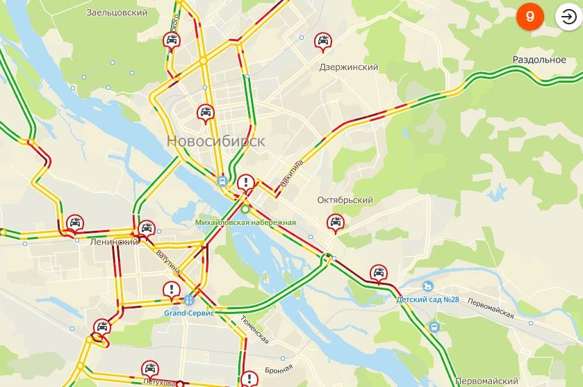 Пробки начали собираться ещё до 8:00
