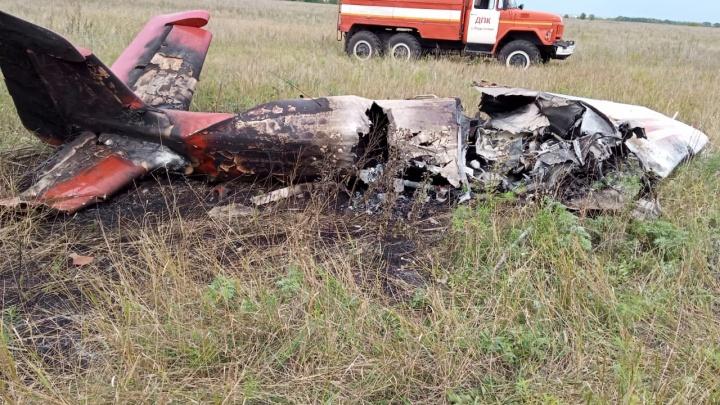 В Самарской области разбился самолет