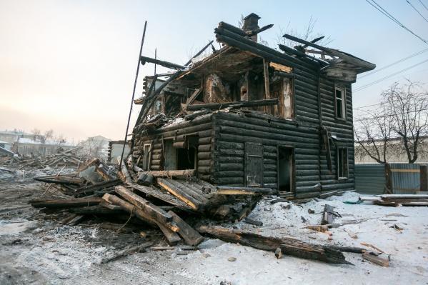 Все, что осталось от старинного дома на Перенсона