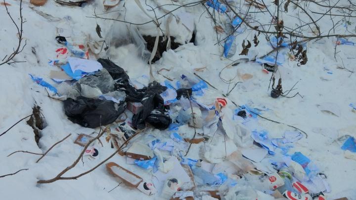 Екатеринбуржец заснял набережную, заваленную мусором, и обвинил в этом местный ресторан