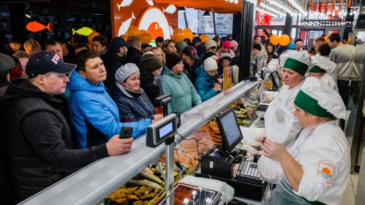 О таком магазине пермяки мечтали давно: в Перми открылся крупный рыбный гастроном