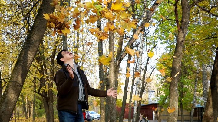 Смелая фотосессия нижегородского эколога. Асхат Каюмов об опавшей листве, жучках и червячках