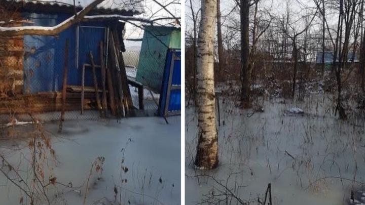 «Из дома в туалет на коньках можно»: под Уфой участки при жилых домах превратились в катки