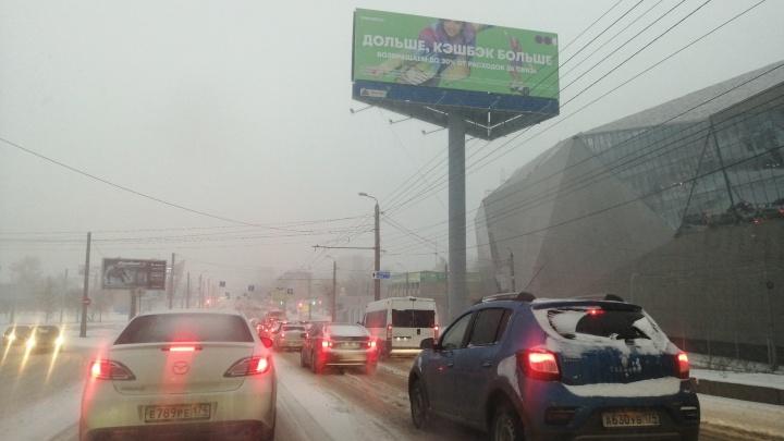 10-балльные пробки, радостные животные и недовольный Текслер: как Челябинск пережил мощный снегопад