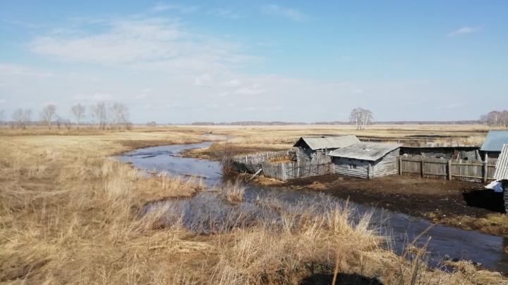Дорогу с «водопадом» на севере Омской области пообещали отремонтировать после паводка