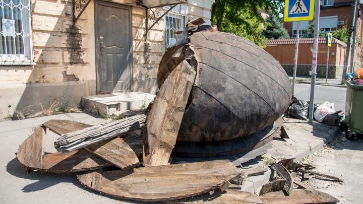 Активисты рассказали, что будет со старинным куполом, который выбросили жители Нахичевани