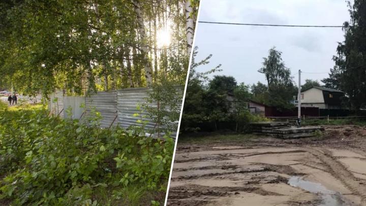 Жители Рыбинска: в роще, где мэр остановил строительство часовни, выкопали котлован для фундамента