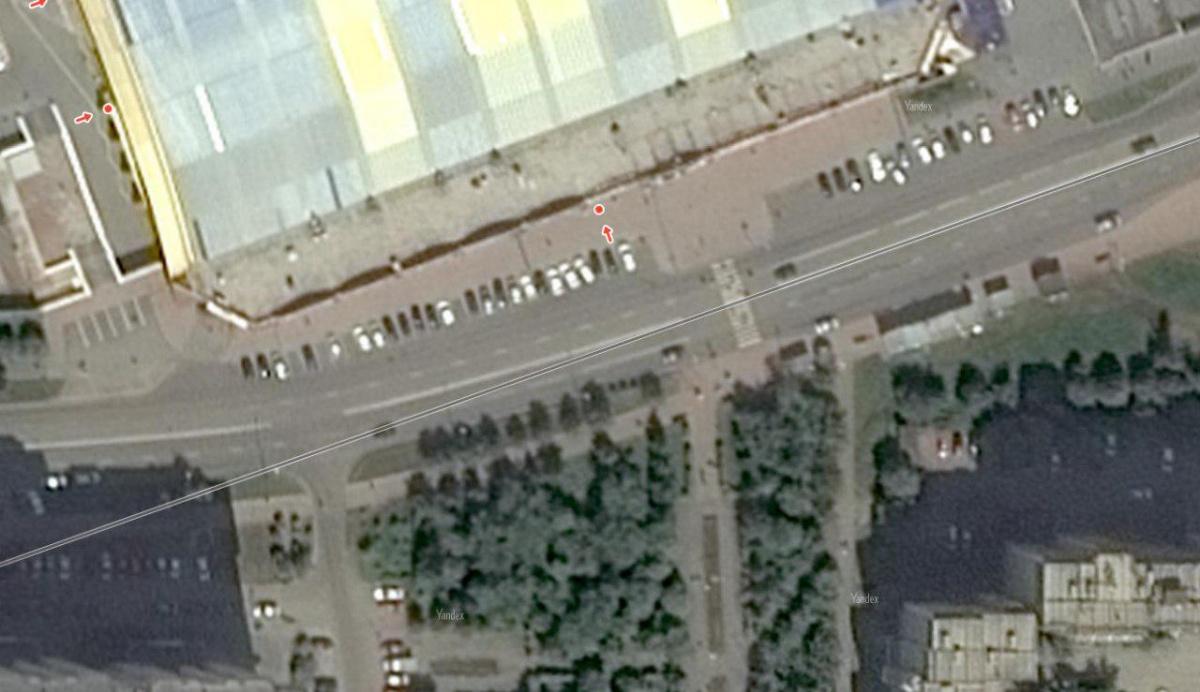 Дорога у «Дирижабля» имеет небольшой изгиб