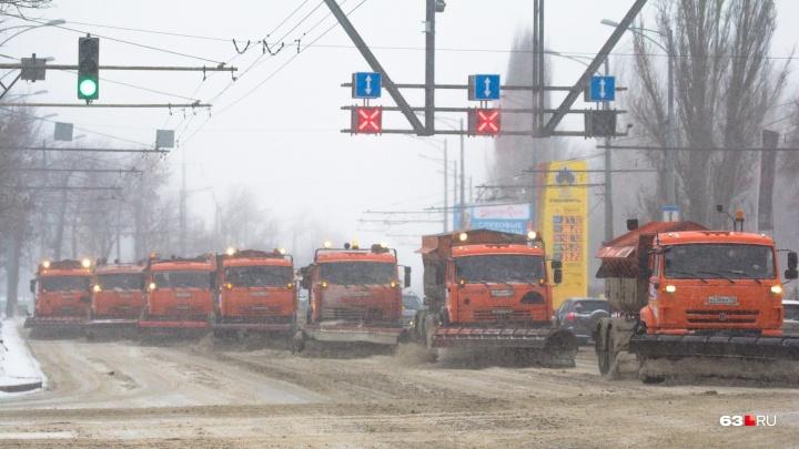Власти Самары планируют отправить на борьбу со снегом 700 спецмашин