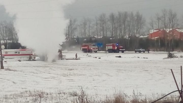 На Челябинском тракте загорелся пост медицины катастроф