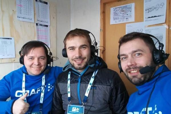 Дмитрий Терехов (слева), Антон Шипулин (в центре) и Николай Круглов (справа)