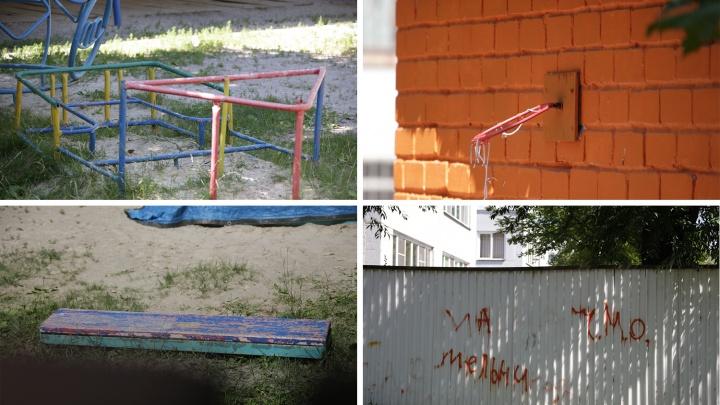 И так сойдёт: показываем площадки в детских садах Челябинска, с которых хочется сбежать