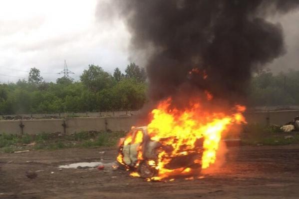Пожару предшествовала авария