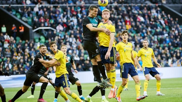 ФК «Ростов» упустил победу над «Краснодаром», получив гол в дополнительное время