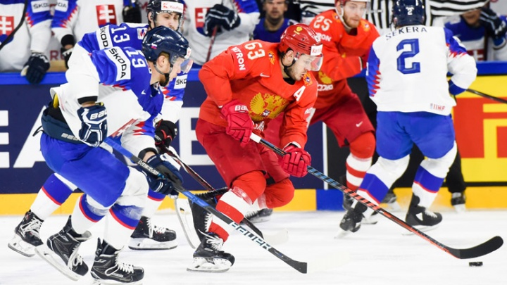 Два гола — в пустые ворота: Россия обыграла Словакию на чемпионате мира по хоккею