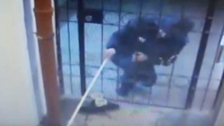 Омич украл обувь клюшкой и попал на видео. Это очень смешно